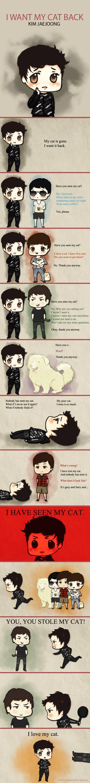 Jaejoong wants his cat back.