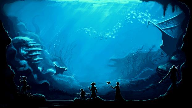 Underwater Synvian Temple
