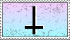 pastel inverted cross - stamp by pupcats