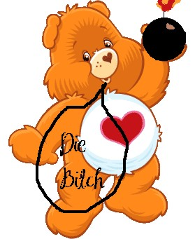 Evil Care bear by celticgoddessofmuck