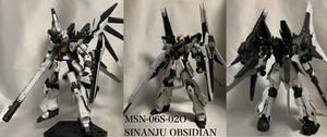 MSN-06S-02O Sinanju Obsidian by @Zyouhouta