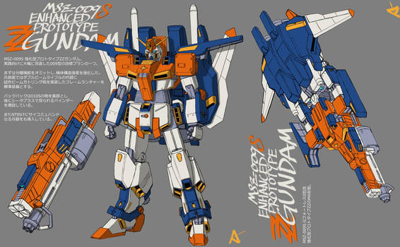 MSZ-009S Enhanced prototype ZZ Gundam BY Ayama
