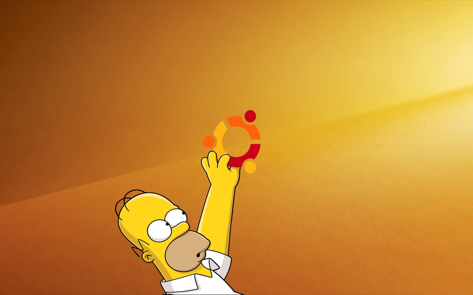 Simpson meet Ubuntu by metrovinz