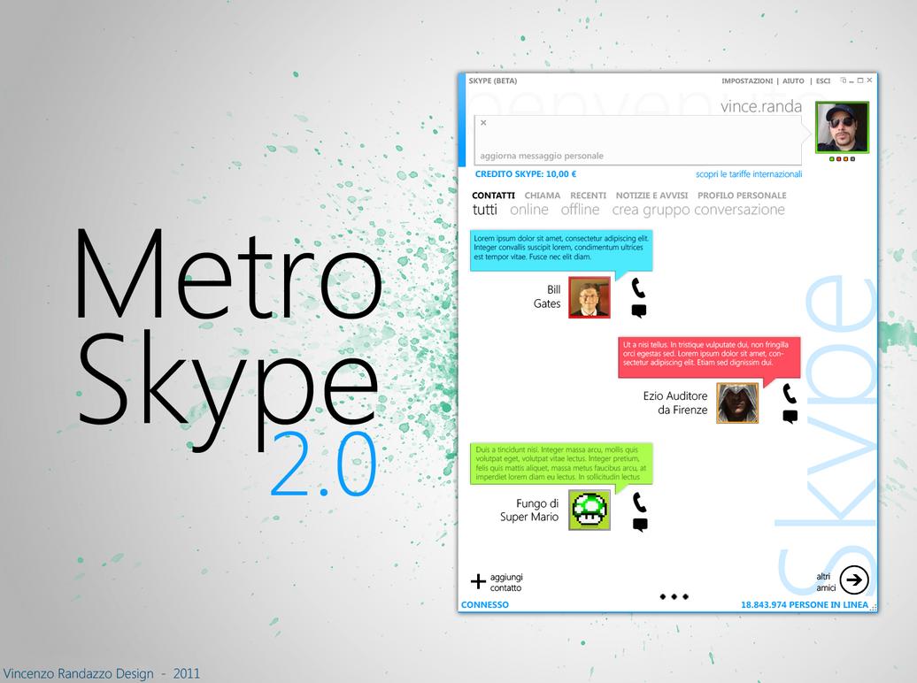 Modern Skype 2.0 by metrovinz