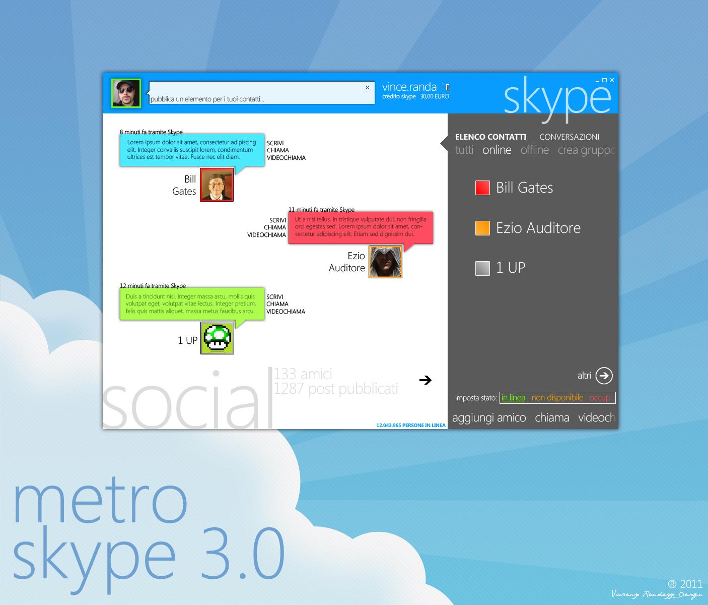 Modern Skype 3.0 by metrovinz