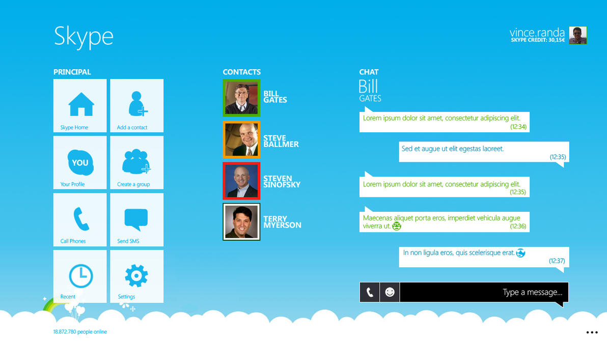 Modern Skype v4 by metrovinz