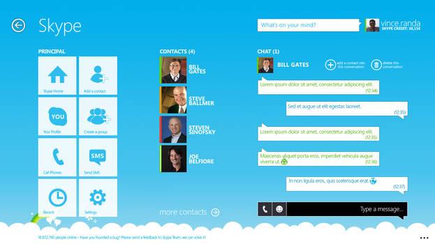 Modern Skype v4 Remix