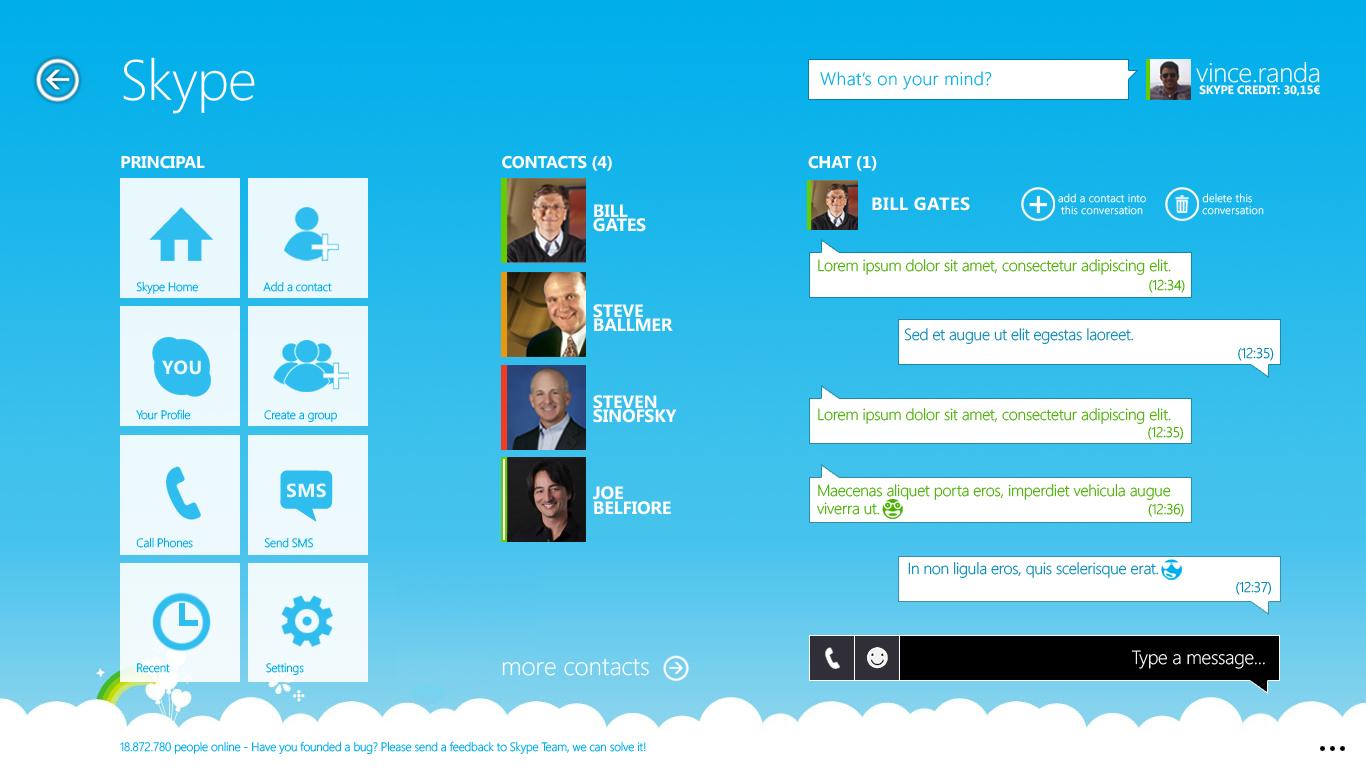 Modern Skype v4 Remix by metrovinz