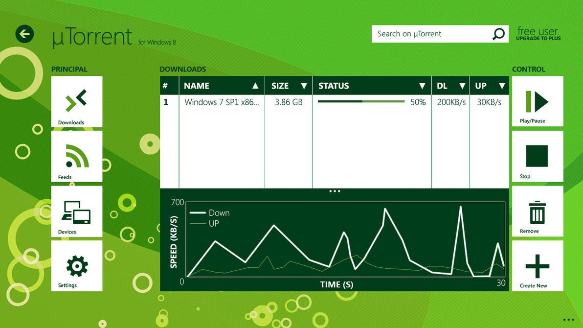uTorrent for Windows 8 - Concept by metrovinz