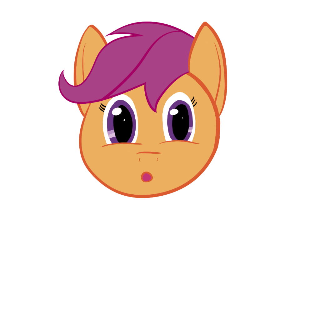 First Completely Digital Drawing, Scootaloo by RyokoHaze