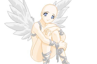 Angel base by Snowy-pixels