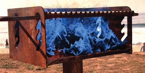 Blue Flame Fury by Robert-Hartland