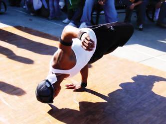 Street Break Dancing by Robert-Hartland