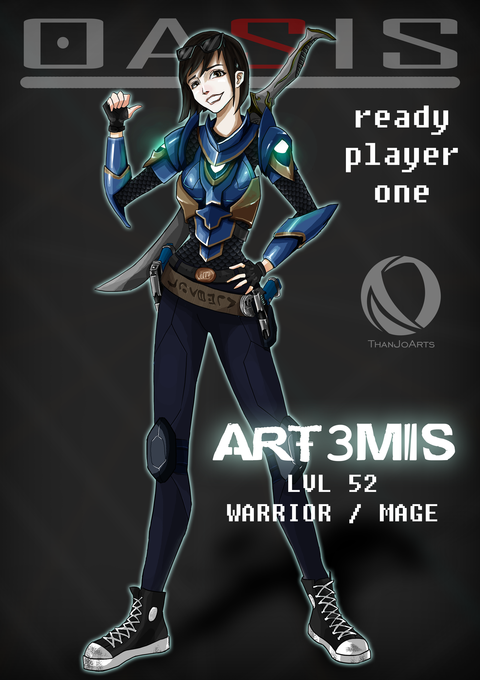 Anime Characters In Ready Player One : Art mis by thanjoarts on deviantart