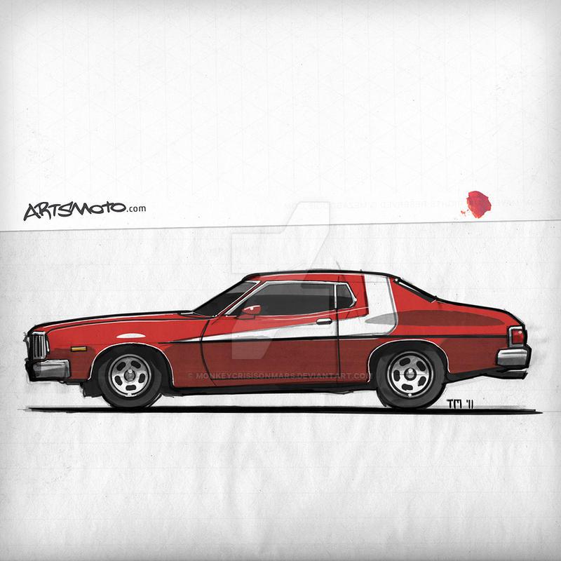 Starsky And Hutch Car: Starsky And Hutch Gran Torino By Monkeycrisisonmars On