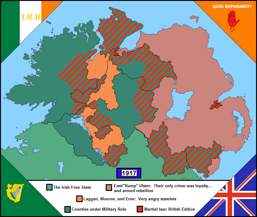 Ulster Rising Irish Alt History In A Shade Of Orange Imaginarymaps