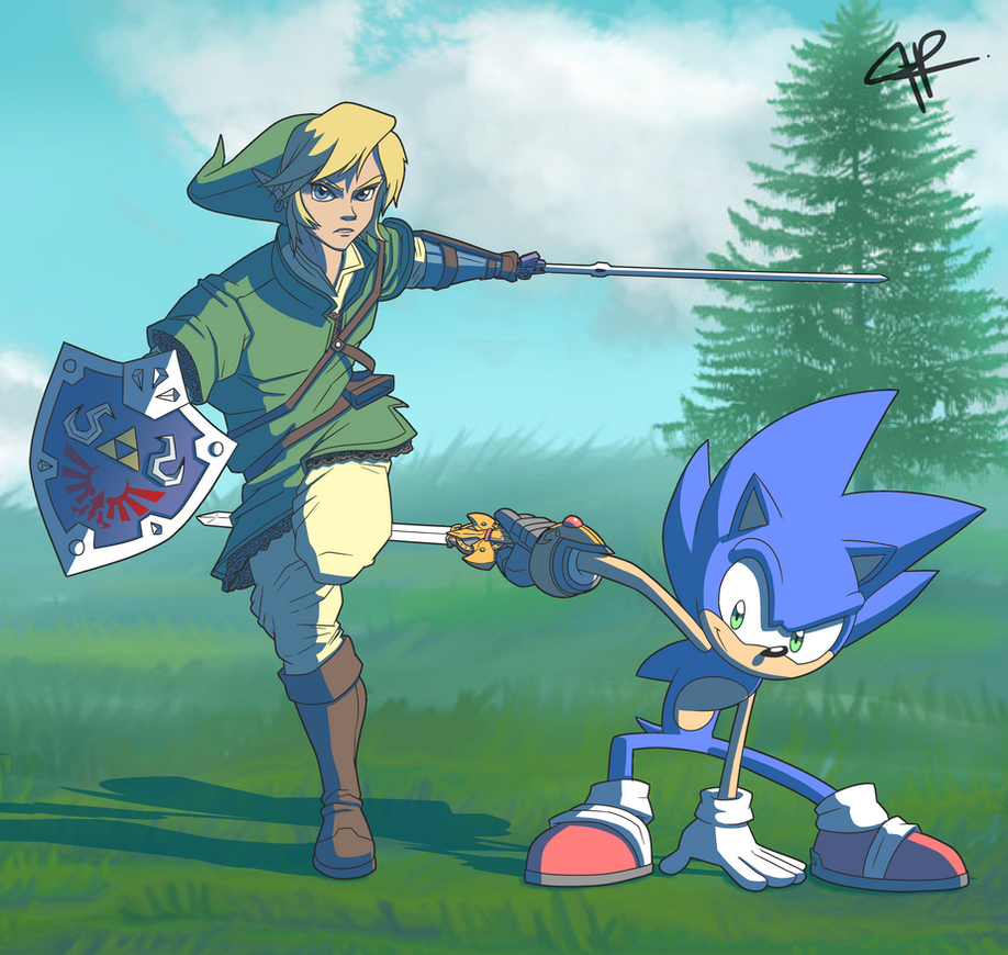 Lank and Sanic by JR343