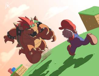 Mario v Bowser by JR343
