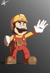 Smash Ultimate: 'Mario Maker' Mario by JR343