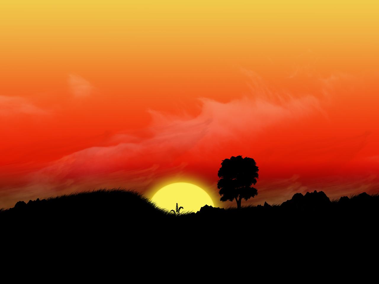 Vivid Sunset by s3vendays
