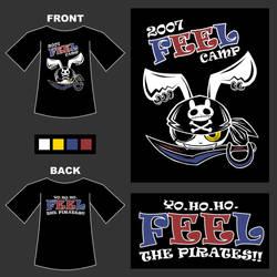 2007 FEEL camp shirt design by cjcat2266