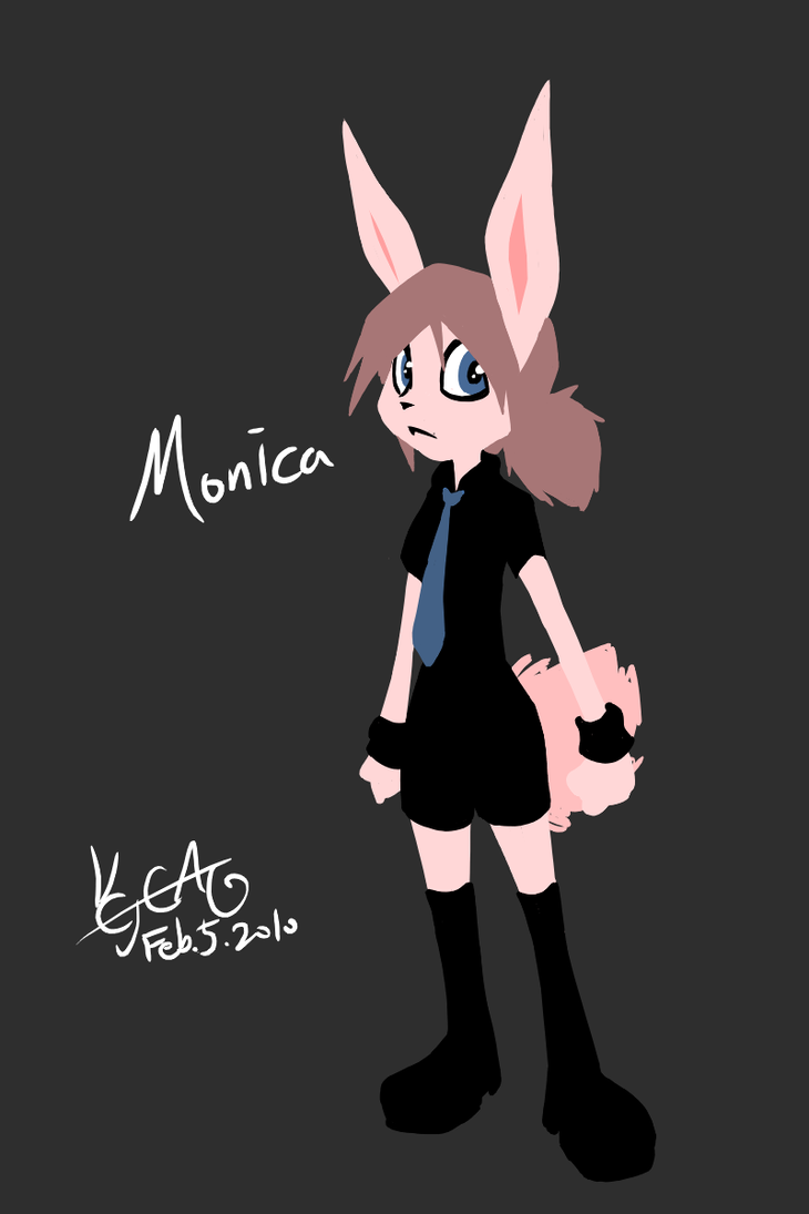 Monica game character ref by cjcat2266