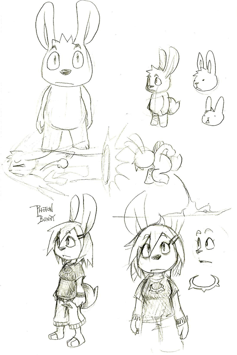 Photon Bunny concept by cjcat2266