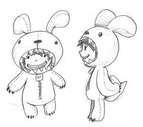 Carnivorous Bunny Girl by cjcat2266