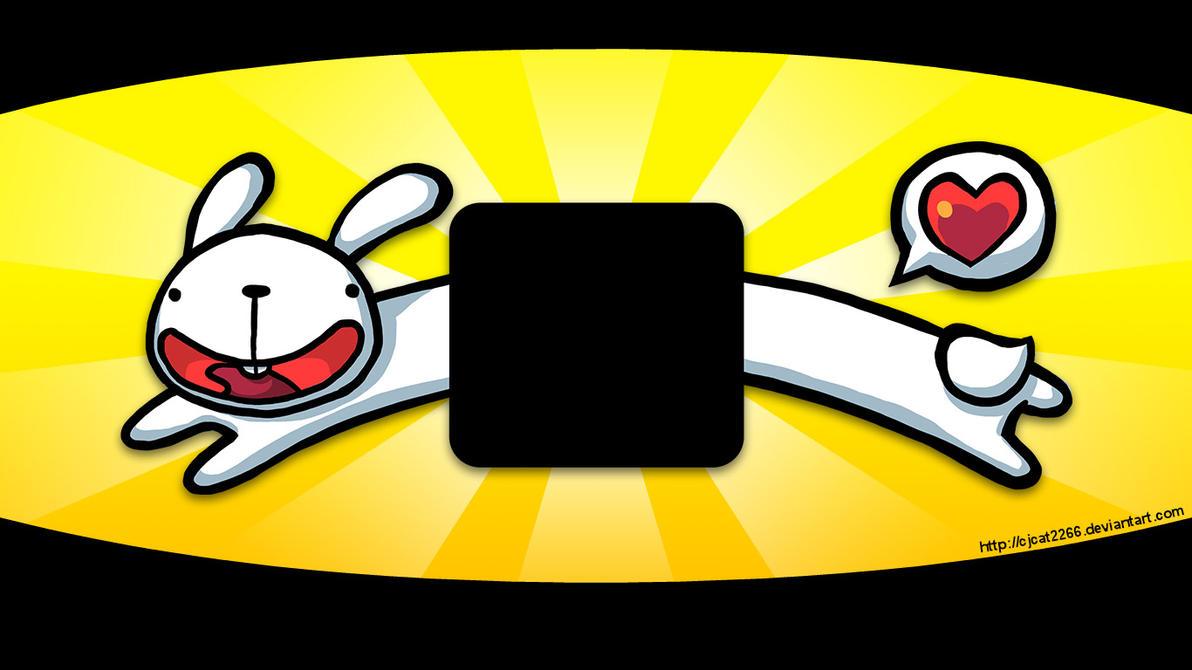 Long Bunny Logon Screen Background by cjcat2266
