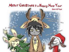 Christmas bunnies by cjcat2266