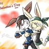 V.Day Bunnies by cjcat2266