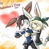 V.Day Bunnies by cjcat2266