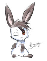Rusher in bunnyform by cjcat2266