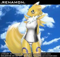 Renamon in Monica swimwear BD by cjcat2266