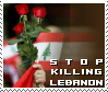 stop killing lebanon stamp by backspace-1