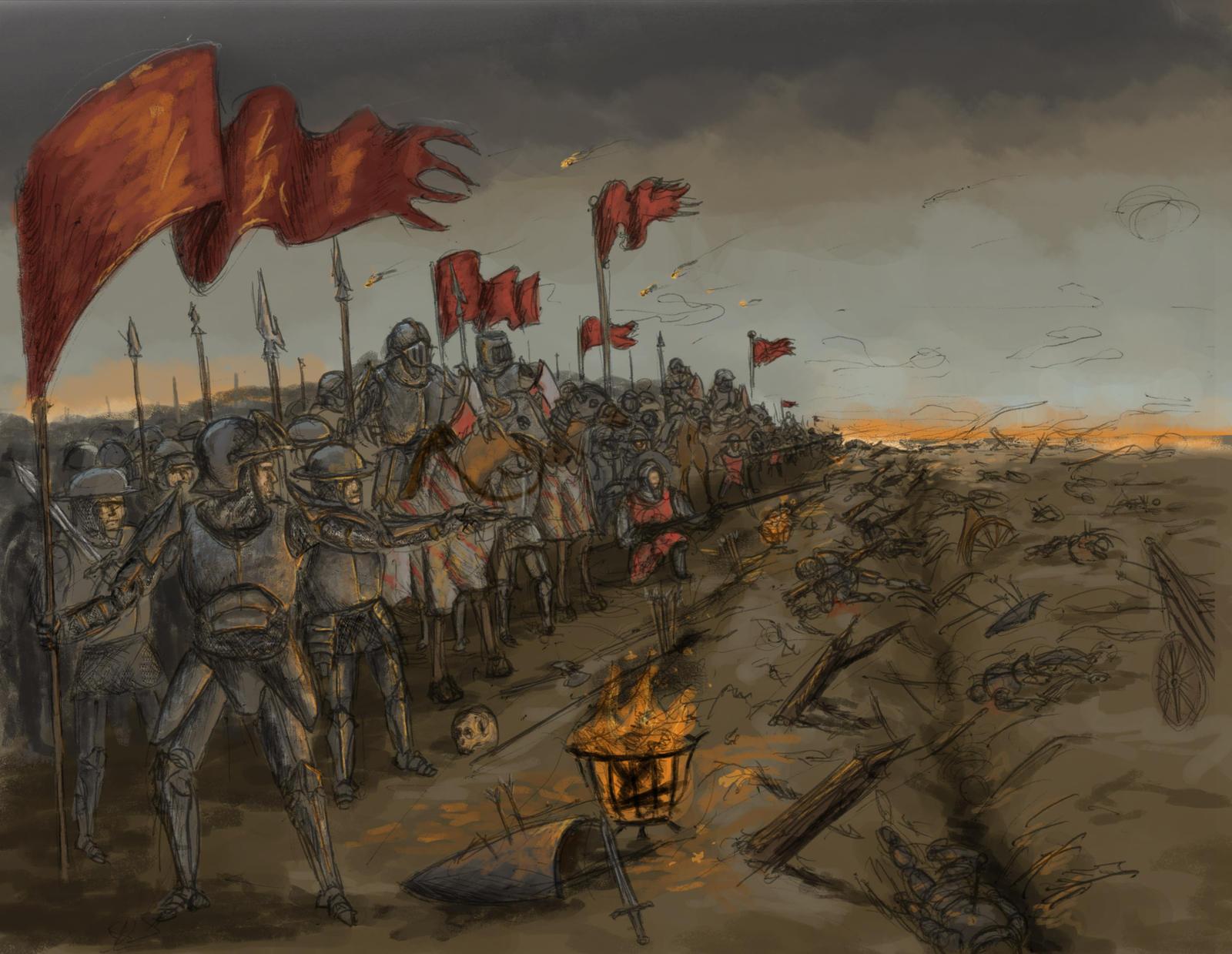 Fantasy Nordic Mythology Illustrations - Img Jdc Nm Battle Scene