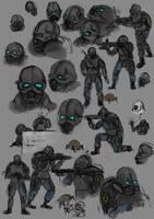 Combine Overwatch Sketchdump by Blistas