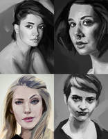 Portrait studies 02 by iZonbi