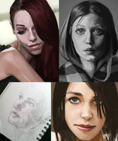 Portrait studies 04 by iZonbi
