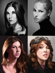 Portrait studies 05 by iZonbi