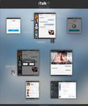 iTalk | Messenger concept by tavi004