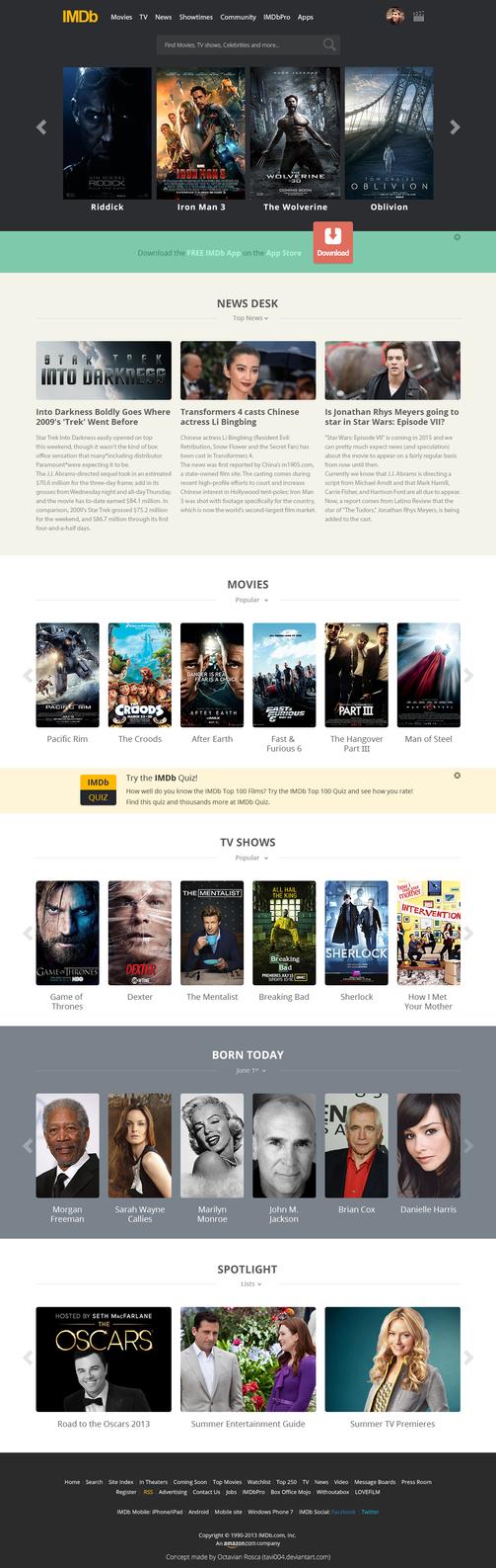 IMDb flat Redesign by tavi004