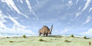 Sad Elasmotherium by NordicB3rry