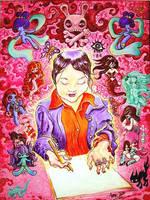portrait of Junko Mizuno by jasonatomic