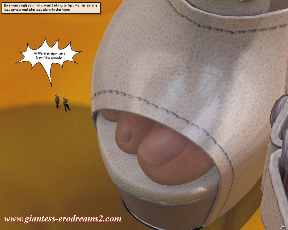 Giantess Erodreams2 - Preview - 2 tiny reporters by ilayhu2