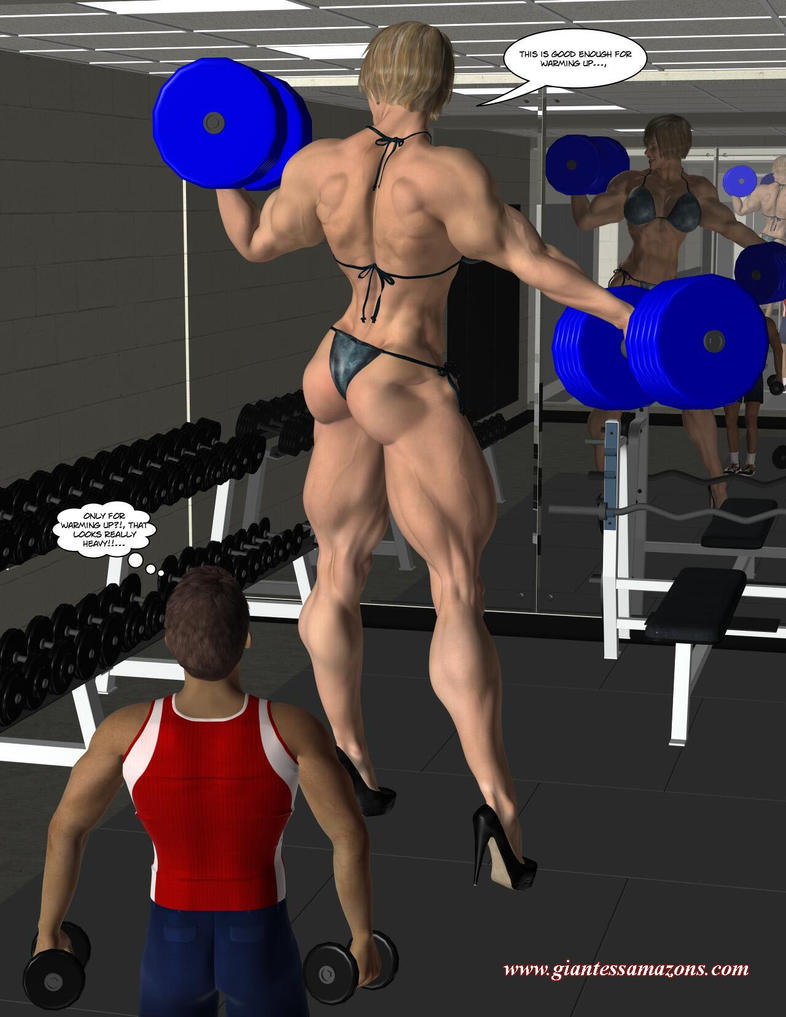 Giantess Amazons - Sonya's Workout by ilayhu2