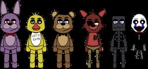Cartoon FNAF Puppet Rigs