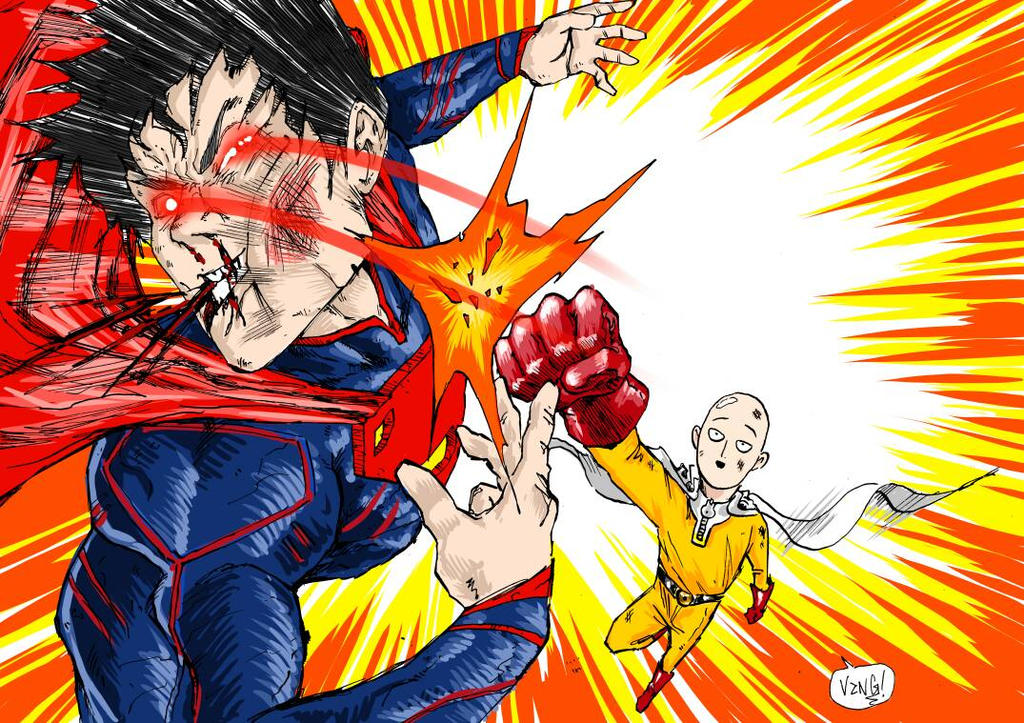 Saitama Vs Superman By DSirPenguin