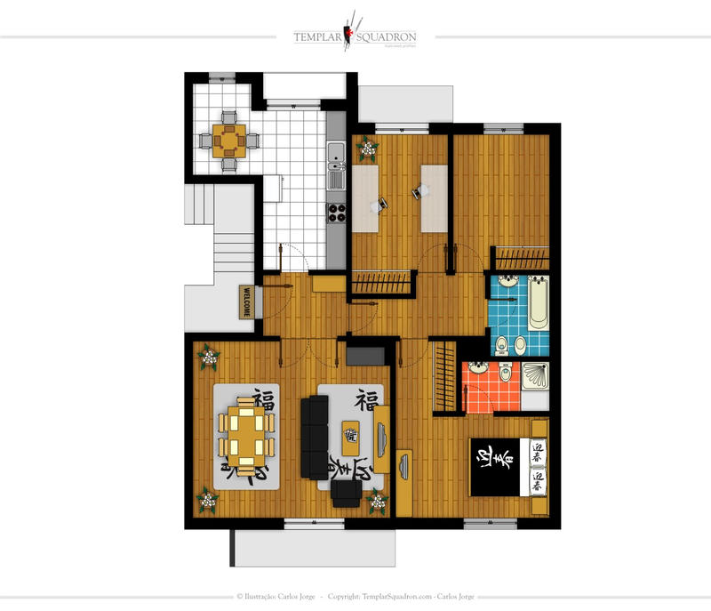 Flat plan by plastikmodels on deviantart for Plan of a flat