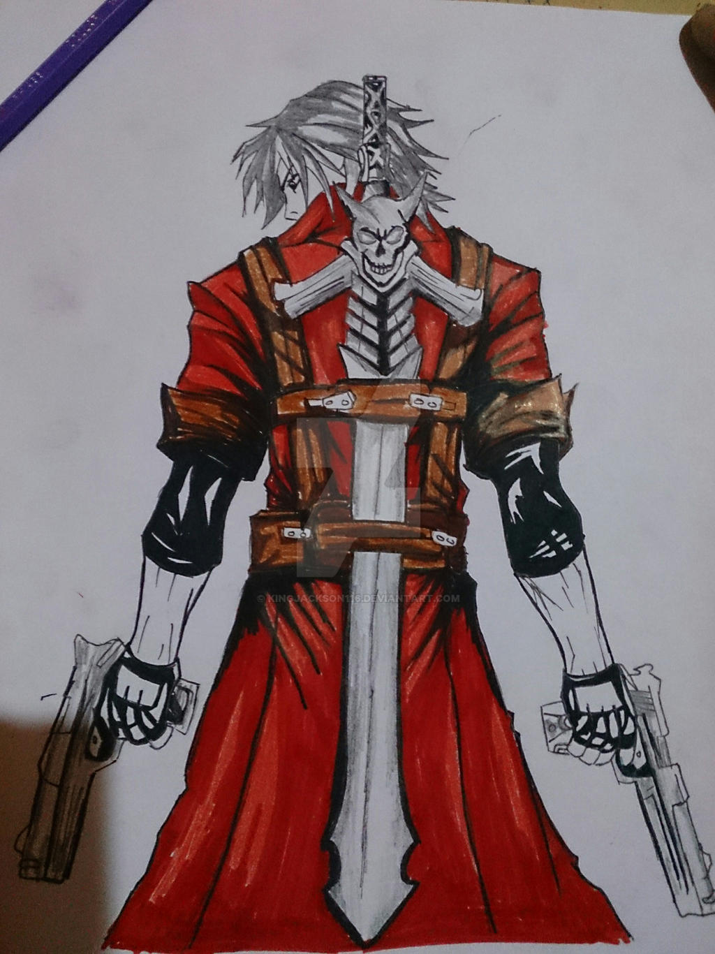 Dante From Anime Devil May Cry Complete By